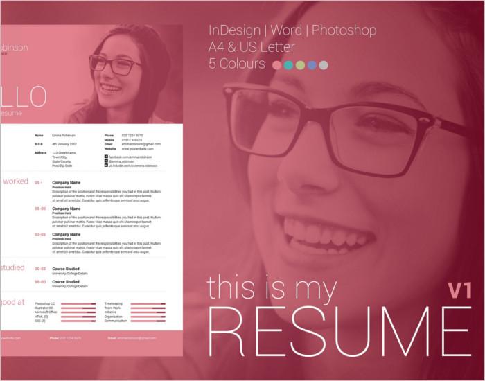 Modern Resume PSD Template