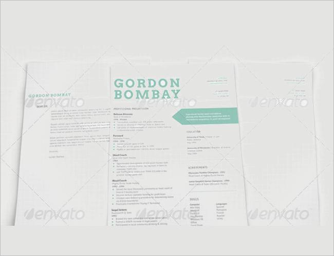 Modern Typographic Resume Template