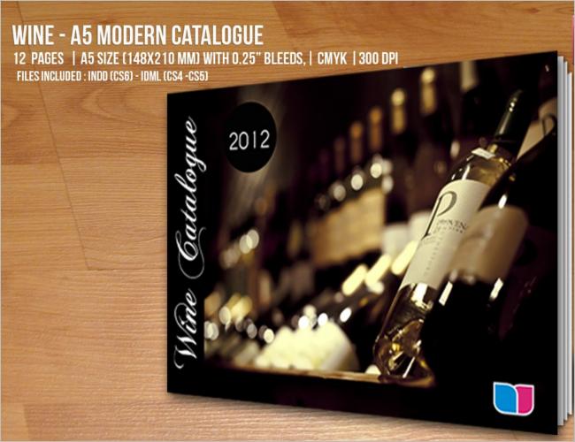 Modern Wine Catlog Template