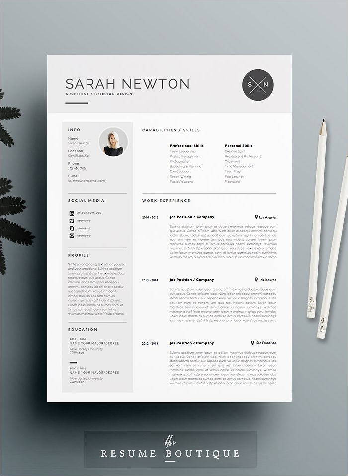 Moon light Resume Design Template