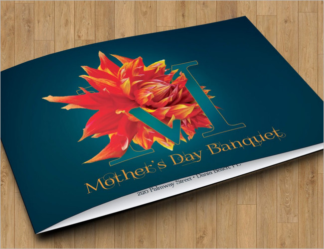 Mothers Day Banquet Invitation Ticket Template