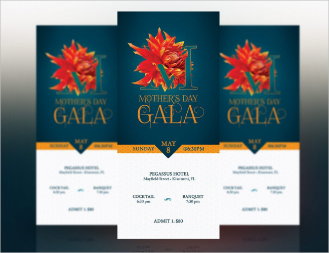 Mothers Day Ticket Design