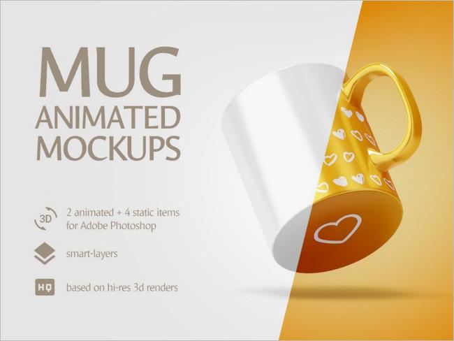 Mug Animated Mockup Design