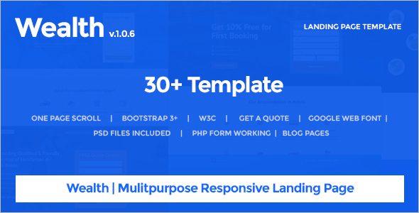 Multi Bootstrap Landing page Template