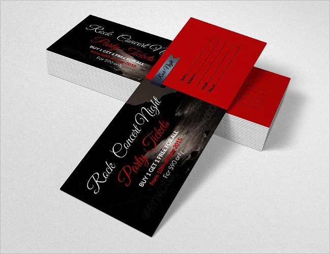 Multi-Concert Party Ticket Template