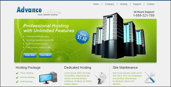Multi Hosting Business website template