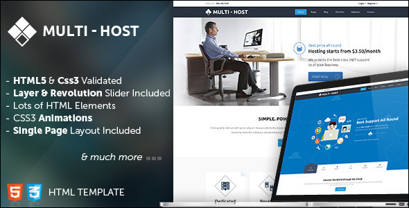 Multi Hosting Responsive Website Template