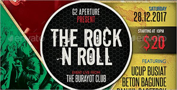 Multi-Rock Music Event Flyer