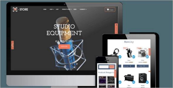 Music Accessories WordPress WooCommerce Template
