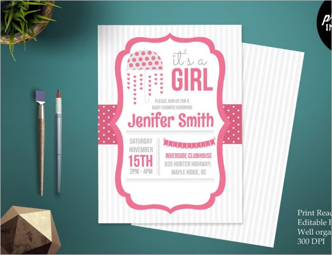 New Born Baby Shower Invitation