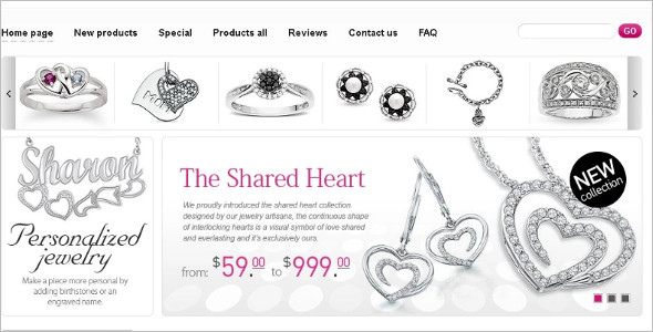 New Collection Jewelry ZenCart Template