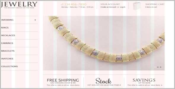 Noblest Jewels OsCommerce Template