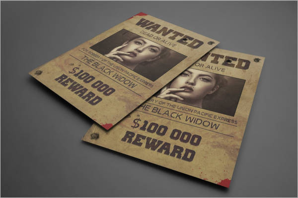 Old West Wanted Poster Design