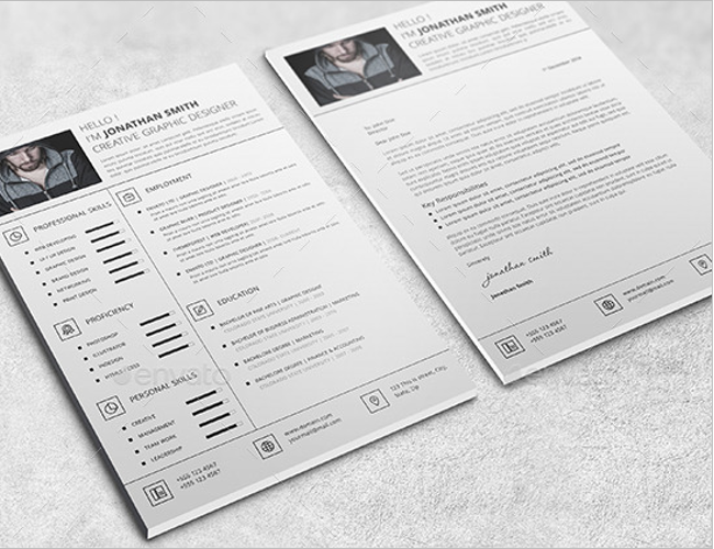 One Page Functional resume Template