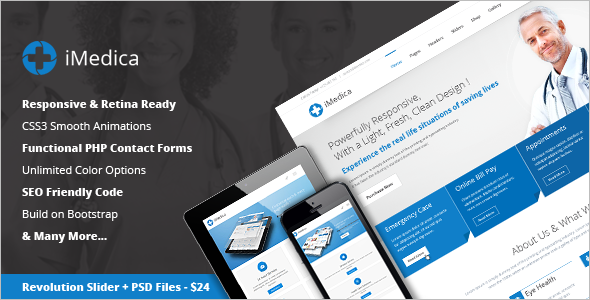 Online Medical Health Website Template