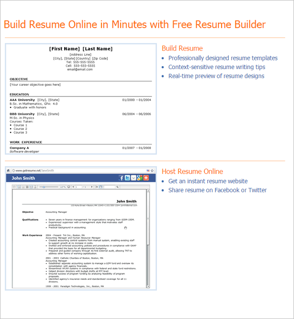 Resume Builders Free Word PDF Format Templates