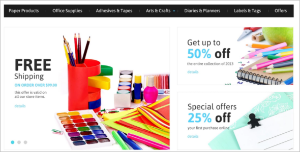 Online Stationery OpenCart Theme