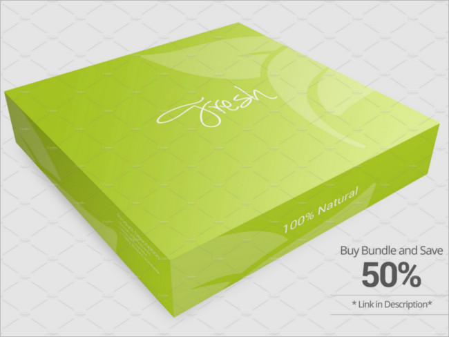 Package Box Mockup version Design