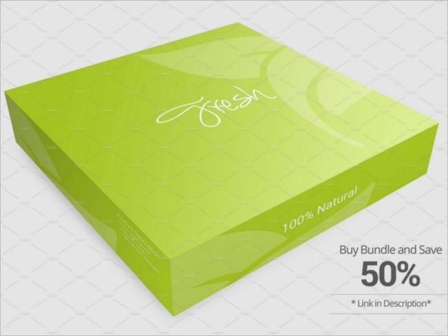 Package Box Mockup version Design