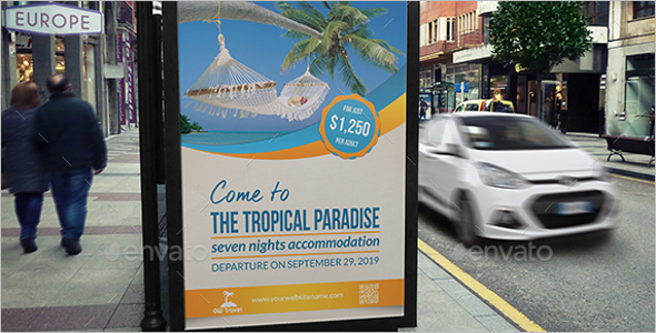 Paradise Travel Poster Theme
