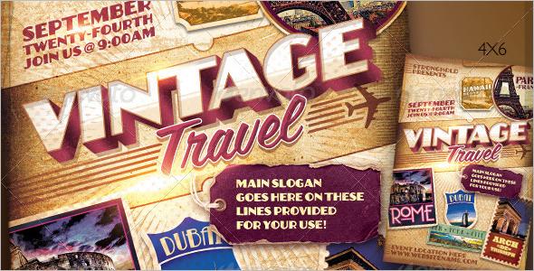 Paris Tour and Travel Poster Template