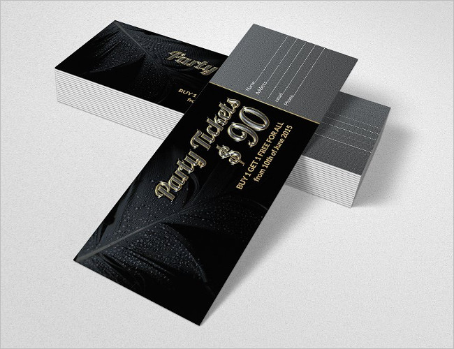 Party Pass Ticket Design