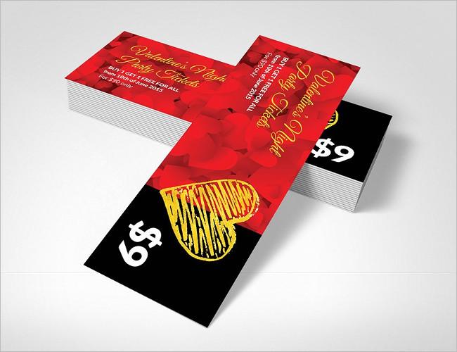 Pass Valentine's Party Ticket Design