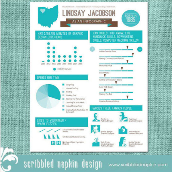 Personalized High Infographic Resume Design