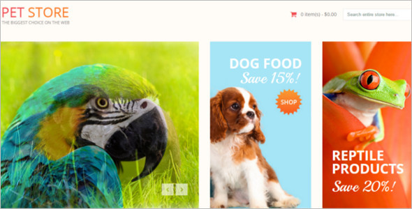 Pet Animal shop Responsive Magneto Theme