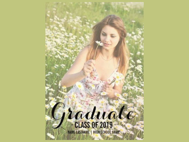 Photo Graduate Party Invite Design