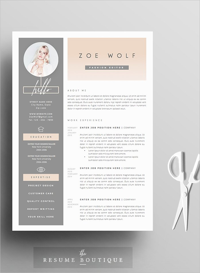 Photo Resume Design Template