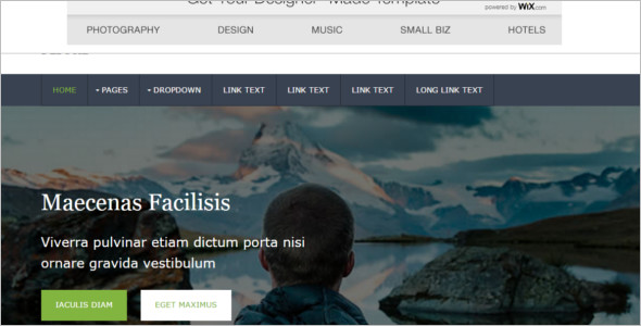 Photography jQuery Website Templates