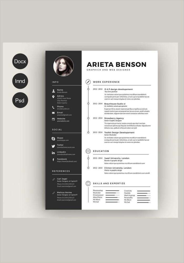 Photoshop Creative Resume Template