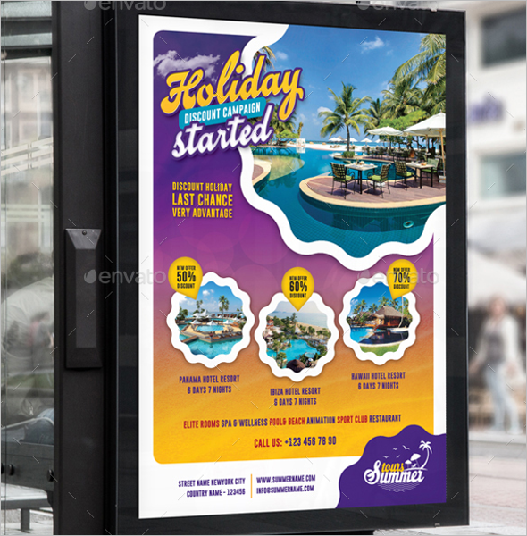 Photoshop Travel Poster Template