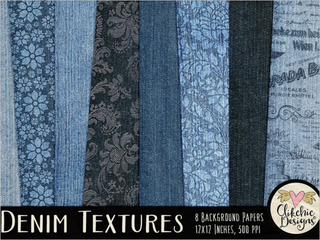 Plain Denim Texture Paper Pack