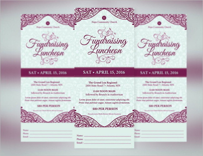 Fundraising Ticket Template ...  Fundraising Invitation Samples