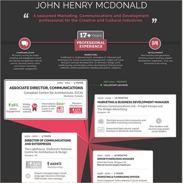 Premium Infographic Resume Template