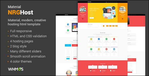 Premium Material Hosting Website Template