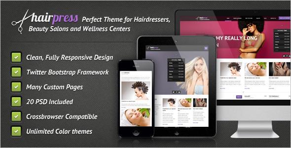Premium Salons Website Template