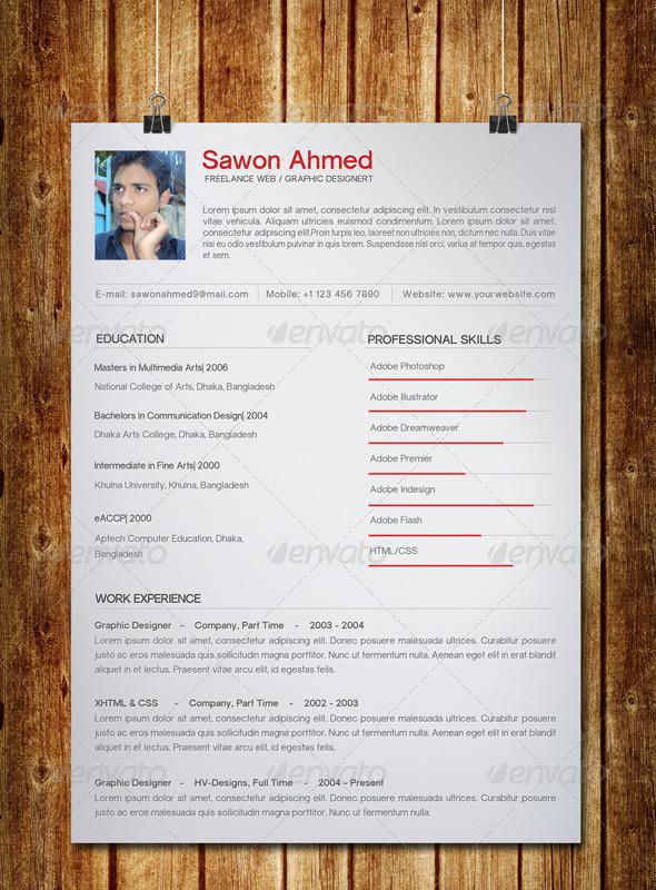 Printable Student Resume Template
