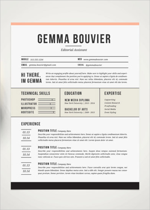 Professional Cover Resume Template