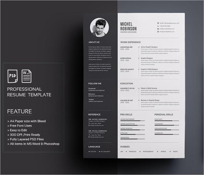 Professional Creative Resume Template