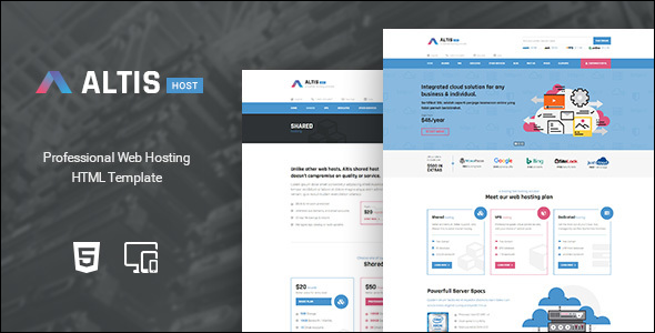 Professional Design Hosting Website Template