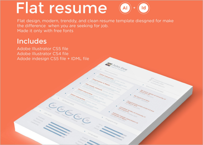 Professional Flat Resume Template