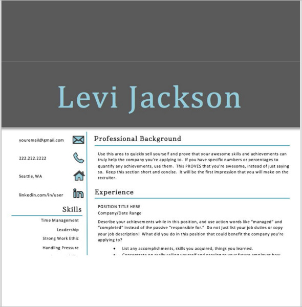 Professional student Resume Template