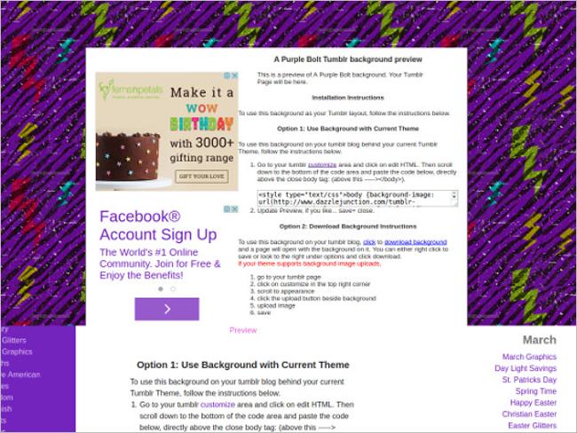 Purple Blot Tumblr Background