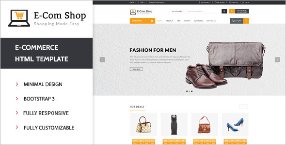 e commerce sites templates - 20 best retail php themes free website templates