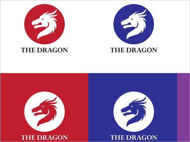 Dragon Bengblack Logo Template Design
