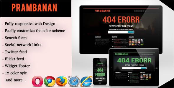 Responsive 404 Error Page Website Template
