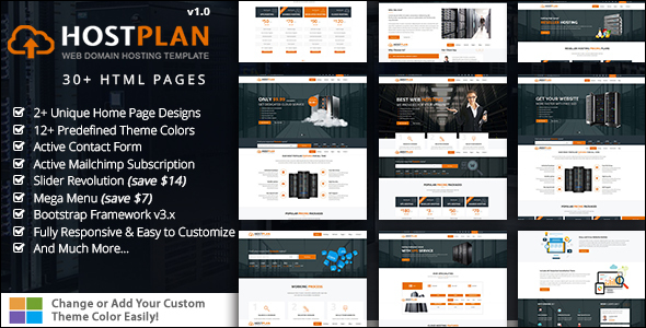 Responsive Domain Hosting Website Template